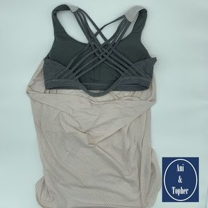 Lululemon Free To Be Wild pink/grey tank size 12
